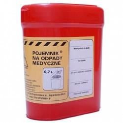 Pojemnik płaski na odpady medyczne 0,7 l